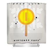 My Nintendo Ice Pop - Gold Coin Shower Curtain