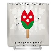 My Nintendo Ice Pop - Piranha Plant Shower Curtain