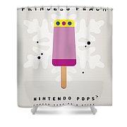 My Nintendo Ice Pop - Princess Peach Shower Curtain by Chungkong Art