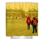 My Old Alma Mater Mcgill University Golden Olden Days Montreal Memories City Scenes Carole Spandau Shower Curtain