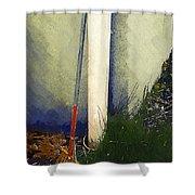 My Old Rake Shower Curtain