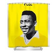 My Pele Soccer Legend Poster Shower Curtain
