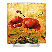 My Poppies 047 Shower Curtain