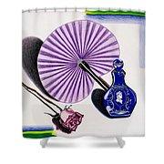 My Purple Fan Shower Curtain