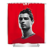 My Ronaldo Soccer Legend Poster Shower Curtain