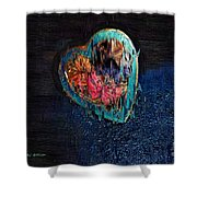 My Rough Imperfect Heart Shower Curtain