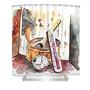 My Sauna Kit Shower Curtain
