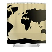 My #3 Simple World Shower Curtain