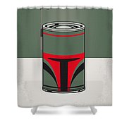 My Star Warhols Boba Fett Minimal Can Poster Shower Curtain