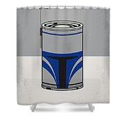 My Star Warhols Jango Fett Minimal Can Poster Shower Curtain