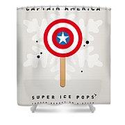 My Superhero Ice Pop - Captain America Shower Curtain