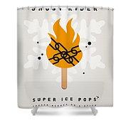 My Superhero Ice Pop - Ghost Rider Shower Curtain