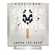 My Superhero Ice Pop - Rorschach Shower Curtain by Chungkong Art