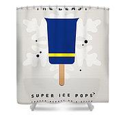 My Superhero Ice Pop - The Beast Shower Curtain by Chungkong Art