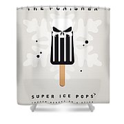 My Superhero Ice Pop - The Punisher Shower Curtain by Chungkong Art