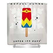My Superhero Ice Pop - Wonder Woman Shower Curtain
