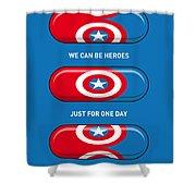 My Superhero Pills - Captain America Shower Curtain