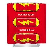 My Superhero Pills - The Flash Shower Curtain