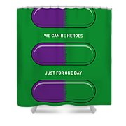 My Superhero Pills - The Hulk Shower Curtain by Chungkong Art