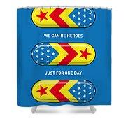 My Superhero Pills - Wonder Woman Shower Curtain