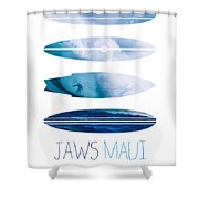 My Surfspots Poster-1-jaws-maui Shower Curtain by Chungkong Art