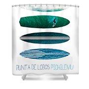 My Surfspots Poster-3-punta De Lobos-chile Shower Curtain by Chungkong Art