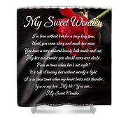 My Sweet Wonder Poetry Art Shower Curtain