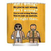 My The Big Lebowski Lego Dialogue Poster Shower Curtain