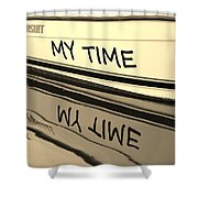 My Time Boat Name Shower Curtain