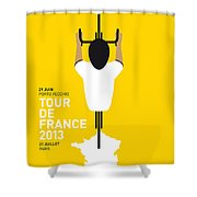 My Tour De France Minimal Poster Shower Curtain