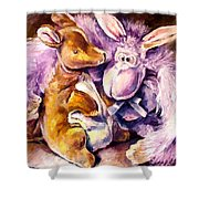 My Toys - Palette Knife Oil Painting On Canvas By Leonid Afremov Shower Curtain