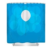 My Up Minimal Movie Poster Shower Curtain by Chungkong Art