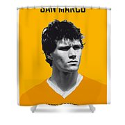 My Van Basten Soccer Legend Poster Shower Curtain