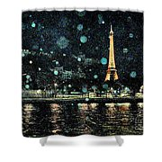 My Van Gogh Eiffel Tower Shower Curtain