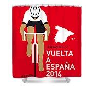 My Vuelta A Espana Minimal Poster 2014 Shower Curtain