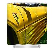 My Yellow Ferrari Shower Curtain