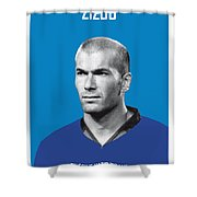 My Zidane Soccer Legend Poster Shower Curtain