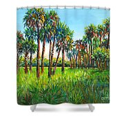 Myakka Palms Shower Curtain