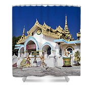 Myanmar Buddhist Temple Shower Curtain
