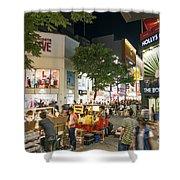 Myeongdong Shopping Street In Seoul South Korea Shower Curtain