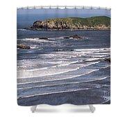 Myers Beach 3 Shower Curtain