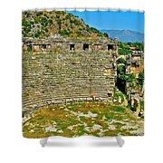 Myra's Roman Theatre In Fourth Century-turkey Shower Curtain