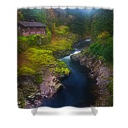 Mysteries Of The Lewis House Shower Curtain by Darren  White