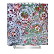 Mysterious Circles 3 Shower Curtain
