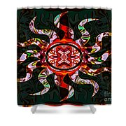 Mysterious Circumstances Abstract Sun Symbol Artwork Shower Curtain