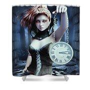 Mysterious Girl Shower Curtain