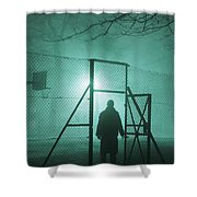 Mysterious Man At Night Shower Curtain