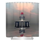 Mysterious Metallic Structure Shower Curtain