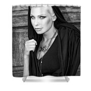 Mysterious Obsession Bw Palm Springs Shower Curtain