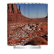 Mysterious Red Rocks Shower Curtain